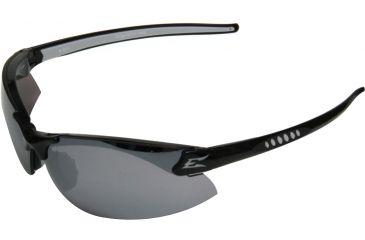 Edge Eyewear Zorge Safety Glasses Black Frame Silver Mirror Lens Dz117