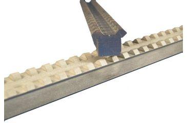 Evolution Gun Works Picatinny Rail Scope Mount Extrusion w/ Slots 2090, 16 inch, silver
