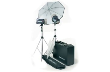 ElinchromStyle 600RX/1200RX Kit With Umbr., Refle., Stands And Case EL-20746