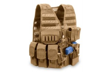 Elite Survival Systems MVP Commandant Tactical Holster Vest, Right Hand Holster, Coyote Tan MVP020103-T
