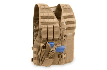 Elite Survival Systems MVP Director Tactical Holster Vest, Right Hand Holster, Coyote Tan MVP010103-T