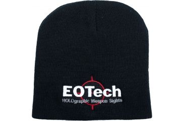 EOTech Gear Black Beanie Hat w/ Color Logo EOTHAT11-IK695-JXX