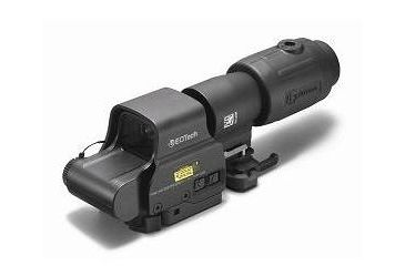 2-EOTech MPO III EXPS2-2 Holosight with G23 3X Magnifier - Circle 2-Dot Reticle, non-NV compatible