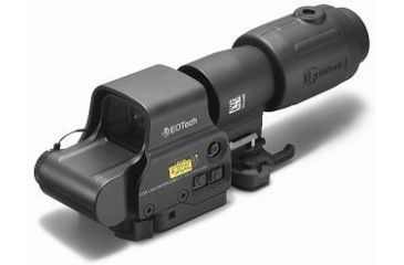 1-EOTech MPO II EXPS3-4 Holosight with G23 3X Magnifier - 4-Dot Reticle, NV Compatible