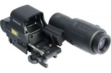 4-EOTech MPO III EXPS2-2 Holosight with G23 3X Magnifier - Circle 2-Dot Reticle, non-NV compatible