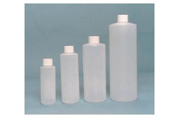 EP Scientific Cylinder Bottles with Caps, High-Density Polyethylene, EP Scientific Products 156-060W Level 1