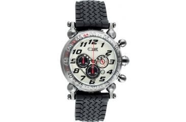 Equipe E109 Balljoint Mens Watch - Silver Case, White Dial, Rubber Strap