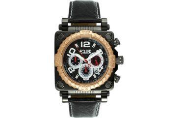 Equipe E308 Gasket Mens Watch - Rosegold Bezel, Black Dial