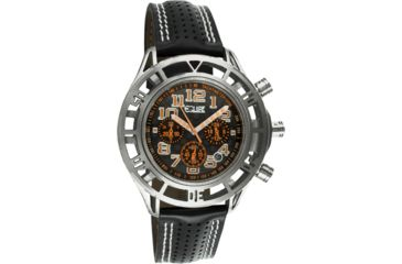 Equipe E802 Chassis Mens Watch - Black Strap, Silver Case, Rosegold/Black Dial