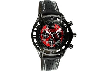 Equipe Eqb102 Mustang Boss 302 Mens Watch - Black Case, Red Dial w/ Black Stripe