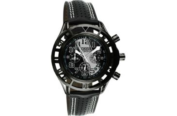 Equipe Eqb103 Mustang Boss 302 Mens Watch - Black Case, Black Dial w/ Silver Stripe