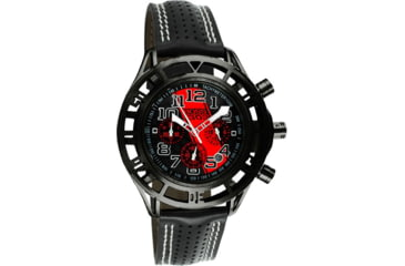 Equipe Eqb108 Mustang Boss 302 Mens Watch - Black Case, Black Dial w/ Red Stripe