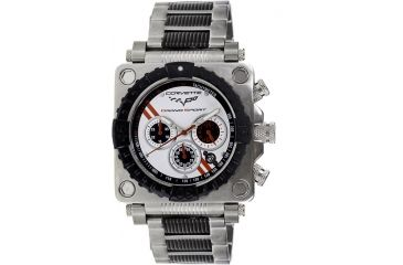 Equipe Ev302 Corvette Grand Sport Mens Watch - Black Bezel, White Dial, Black/Silver Bracelet