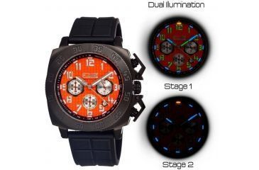 Equipe Tritium Push Mens Watch, Black-Orange EQUET302