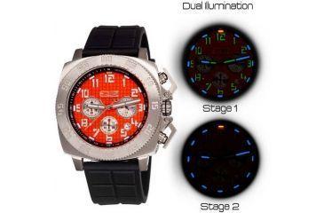 Equipe Tritium Push Mens Watch, Black-Silver-Orange EQUET305