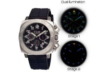 Equipe Tritium Push Mens Watch, Black-Silver-Black EQUET306