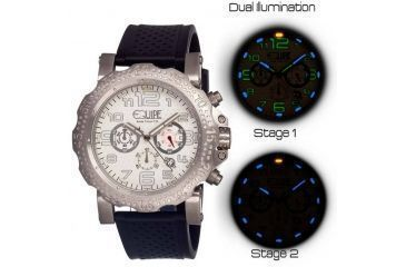 Equipe Tritium Rivet Mens Watch, White-Silver-Black EQUET201