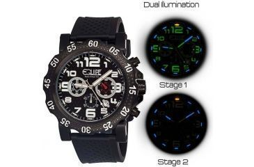 Equipe Tritium Rivet Mens Watch, Black-Grey-White EQUET206