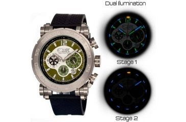 Equipe Tritium Stud Mens Watch, Black-Silver-Olive EQUET507