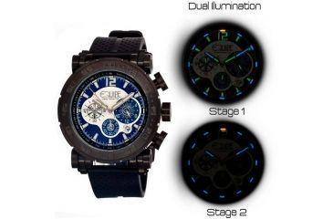 Equipe Tritium Stud Mens Watch, Black-Blue-Multicolor EQUET509
