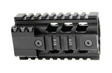 Ergo Grip Z-rail Free Float Pistol Length, 4.250in Length AR Rail System 4805