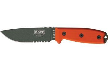 Esee Mdl 4 Part Srtd Fxd Blde Knife, 4.5in, Srtd, Orange G10 Hdl RC4SOD