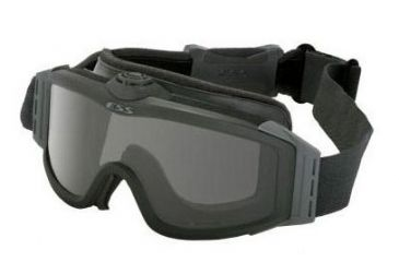 ESS Profile TurboFan Military/Tactical Goggles - Black Frame, Clear & Smoke Gray Lenses