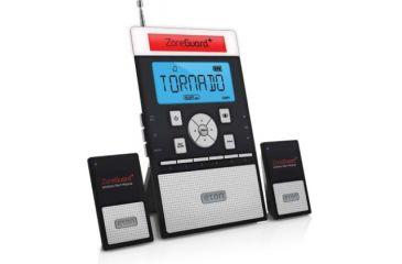 Eton Zoneguard Weather Alert Clock Radio, Black NZG200B