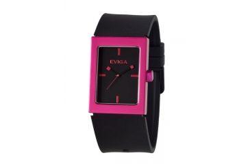 Eviga Rk0101 Ruta Mens Watch - Black Band, Hot Pink Bezel
