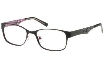 Exces 3099 Eyeglasses - Black-Wine Frame w/ Clear Lenses,Size 51-17-140 3099-201