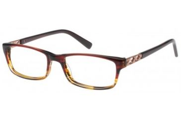 Exces 3111 Eyeglasses - Red-Brown Frame w/ Clear Lenses,Size 52-17-140 3111-197