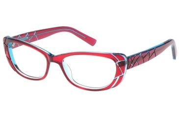 Exces 3112 Eyeglasses - Burgundy-Blue Frame w/ Clear Lenses,Size 54-16-140 3112-204