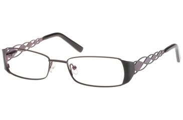 Exces Womens 3077 Eyeglasses - Black-Purple Frame w/ Clear Lenses, Size 50-17-135, 50-17-135 3077-452