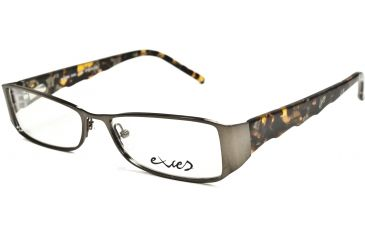 Exces Womens 3080 Eyeglasses - Copper-Olive Tortoise Frame w/ Clear Lenses, Size 51-15-135, 51-15-135 3080-234