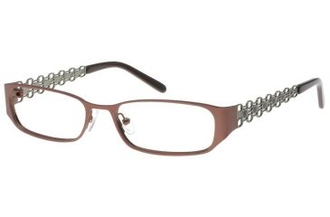 Exces Womens 3082 Eyeglasses - Brown-Green Frame w/ Clear Lenses, Size 51-16-135, 51-16-135 3082-665