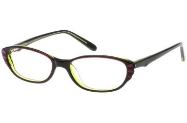 Exces Womens 3087 Eyeglasses - Plum-Black Frame w/ Clear Lenses, Size 51-16-140, 51-16-140 3087-420