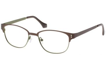 Exces Womens 3090 Eyeglasses - Brown-Olive Frame w/ Clear Lenses, Size 51-18-140, 51-18-140 3090-503