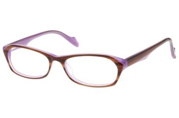 Exces Womens 3093 Eyeglasses - Brown-Purple Frame w/ Clear Lenses, Size 52-15-140, 52-15-140 3093-150
