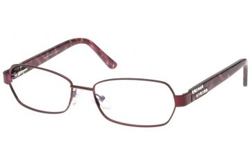 Exces Womens Princess 111  Eyeglasses - Burgundy-Purple Marble Frame w/ Clear Lenses, Size 51-17-135, 51-17-135 P111-142