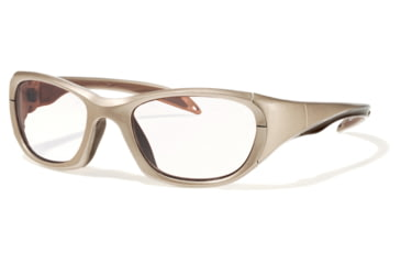 F8 MORPHEUS 2 Protective Eyewear Metallic Light Brown Frame,Clear Silver Flash Lens, Unisex MORPH2MTLB5520130CSF