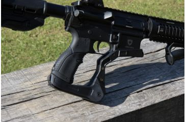 11-FAB Defense AR-15 Quick Deployment Bipod with an Integrated AGR-43 Pistol Grip