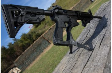 13-FAB Defense AR-15 Quick Deployment Bipod with an Integrated AGR-43 Pistol Grip