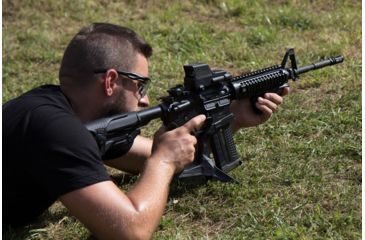 14-FAB Defense AR-15 Quick Deployment Bipod with an Integrated AGR-43 Pistol Grip
