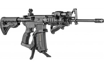 9-FAB Defense AR-15 Quick Deployment Bipod with an Integrated AGR-43 Pistol Grip