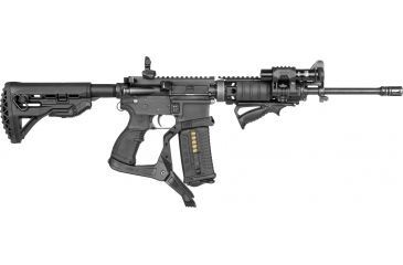 10-FAB Defense AR-15 Quick Deployment Bipod with an Integrated AGR-43 Pistol Grip