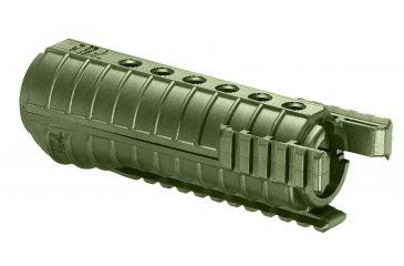 FAB Defense Ar15 Polymer Handguards With 3 Rails, OD FGR-3 (OD)