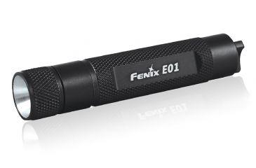 Fenix E01 13 Lumens Flashlight with Battery, Black, 13 E01GSBK-B
