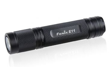 Fenix E11 115 Lumens Flashlight with Battery, Black, 115 E11R4BK-B