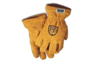 Fire-Dex Gold Elk/leather Cuff - G01CEMGL LG