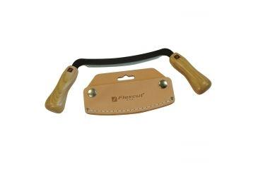 Flexcut Flexible Draw Fixed Blade Knife,5in,Ergonomic Wood Handle FLEXKN16